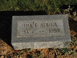 Ida Florence <I>Maholm</I> Africa