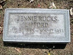 Jennie <I>Rucks</I> Lipford