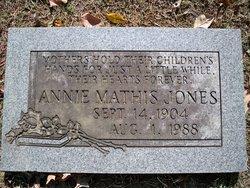 Annie <I>Mathis</I> Jones