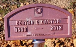Bertha Eleanor <I>Shoemaker</I> Gaston