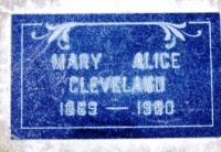 Mary Alice <I>Feeney</I> Cleveland