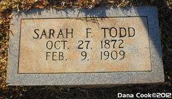 """Sarah Frances """"Sallie"""" Todd"""