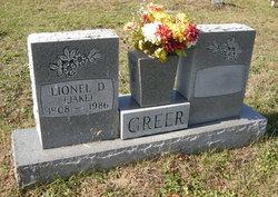 """Lionel Dakery """"Jake"""" Greer"""