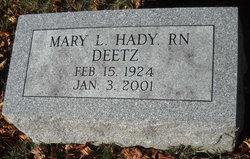 Mary Louise <I>Hady</I> Deetz