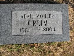 Adah <I>Mohler</I> Greim
