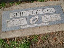"Bertha G. ""Betty"" <I>Goettsch</I> Schneckloth"