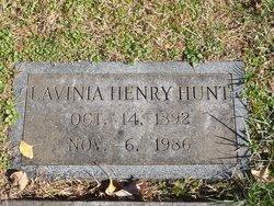 Lavinia <I>Henry</I> Hunt