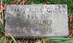Mary Alice <I>Giles</I> Milner