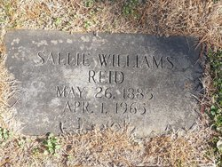Sallie <I>Williams</I> Reid