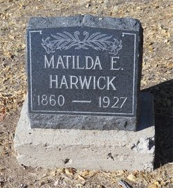 Matilda E <I>Smith</I> Harwick