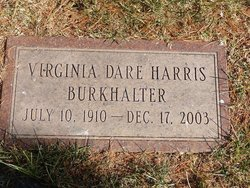 Virginia Dare <I>Harris</I> Burkhalter