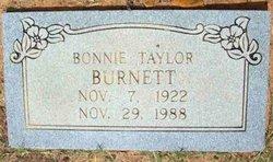 Bonnie Lucille <I>Taylor</I> Burnett