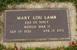 Mary Lou <I>Laswell</I> Lamb