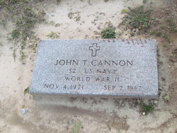 John T Cannon, Sr