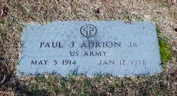 Paul J Adrion, Jr