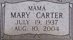 Mary <I>Carter</I> Rowe