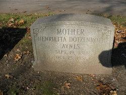 Henrietta <I>Dotzenroth</I> Aynes