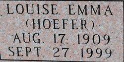 Louise Emma <I>Hoefer</I> Kuhlmann