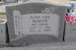 Rubye Faye <I>Schnerr</I> Novian