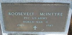 PFC Roosevelt McIntyre