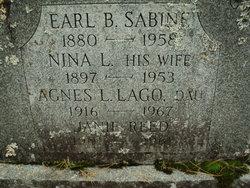 Agnes L <I>Sabine</I> Lago