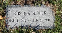 Virginia M. <I>Pinkham</I> Wick