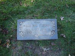 Willie Mae <I>Lewis</I> Sherow