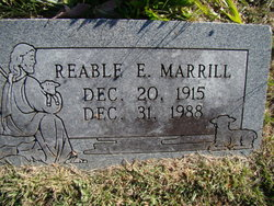 Reable Esther <I>Pidcock</I> Marrill