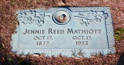Jennie <I>Reed</I> Mathiott