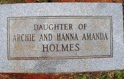 Infant Daughter Holmes