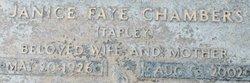 Janice Faye <I>Tapley</I> Chambers