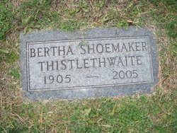 Bertha <I>Shoemaker</I> Thistlethwaite