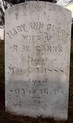 Mary Ann <I>Clark</I> Carns