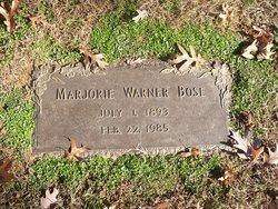 Marjorie <I>Warner</I> Bose