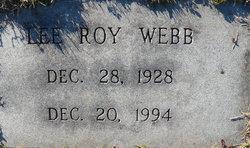 Lee Roy Webb