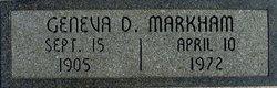 Geneva D <I>Newton</I> Markham