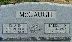 JoAnn <I>Markham</I> McGaugh