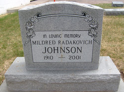 Mildred Radakovich Johnson