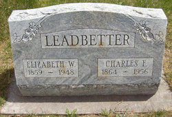 """Elizabeth W """"Lizzie"""" <I>Savage</I> Leadbetter"""