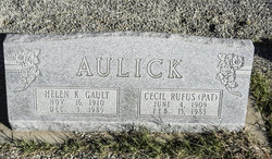 """Cecil Rufus """"Pat"""" Aulick"""