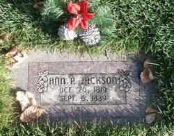 Ann <I>Pearsall</I> Jackson