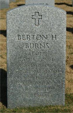 """Col Berton Harrell """"Tex"""" Burns"""