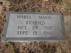 Mabel Marie <I>Driggers</I> Echols