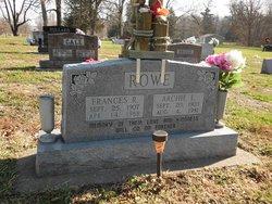 Frances Rachel <I>Morris</I> Rowe