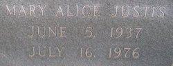 Mary Alice <I>Shipley</I> Justis