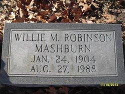 Willie M <I>Robinson</I> Mashburn