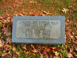Josephine <I>Speakman</I> Wright