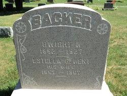 Estella G <I>Kent</I> Backer