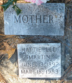 Hattie Lee <I>Dowd</I> Martin