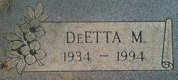 DeEtta Marie <I>Cahill</I> Warren